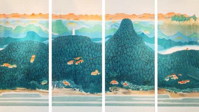 """百余艺术家绘写""""初心力量"""",新时代新风韵作品展在沪举办"""