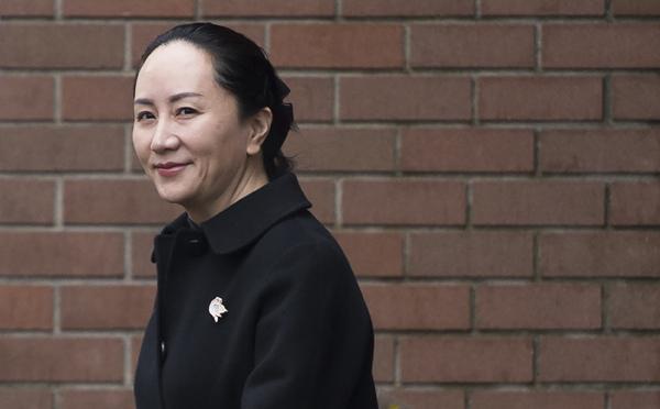 当地时间2020年1月22日,加拿大温哥华,孟晚舟离开家前往不列颠哥伦比亚省最高法院参加引渡听证会。