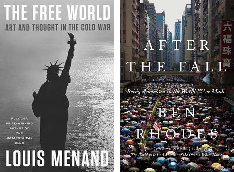 《自由世界:冷战中的艺术和思想》和《堕落之后:在我们创造的世界里成为美国人》书封