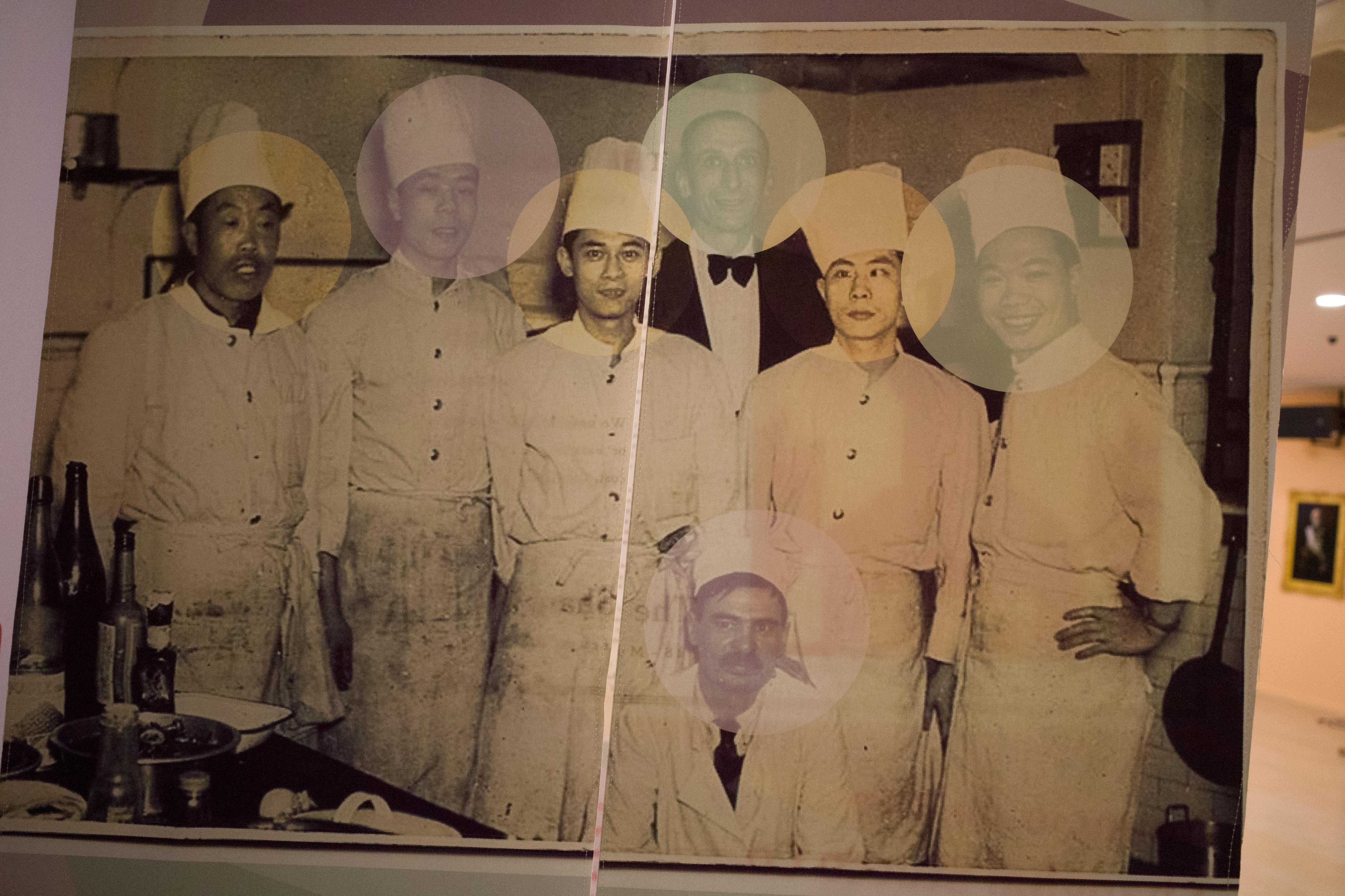 """""""中国的西班牙社区""""主题中展出的照片。"""