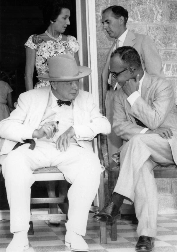 丘吉尔和埃里克·威廉姆斯,1961年。