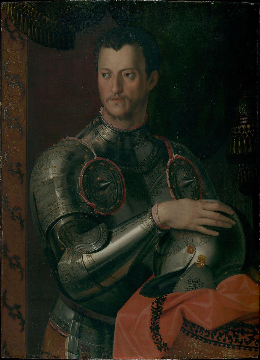 布龙齐诺,《科西莫肖像》,约1545,澳大利亚新南威尔士州美术馆藏