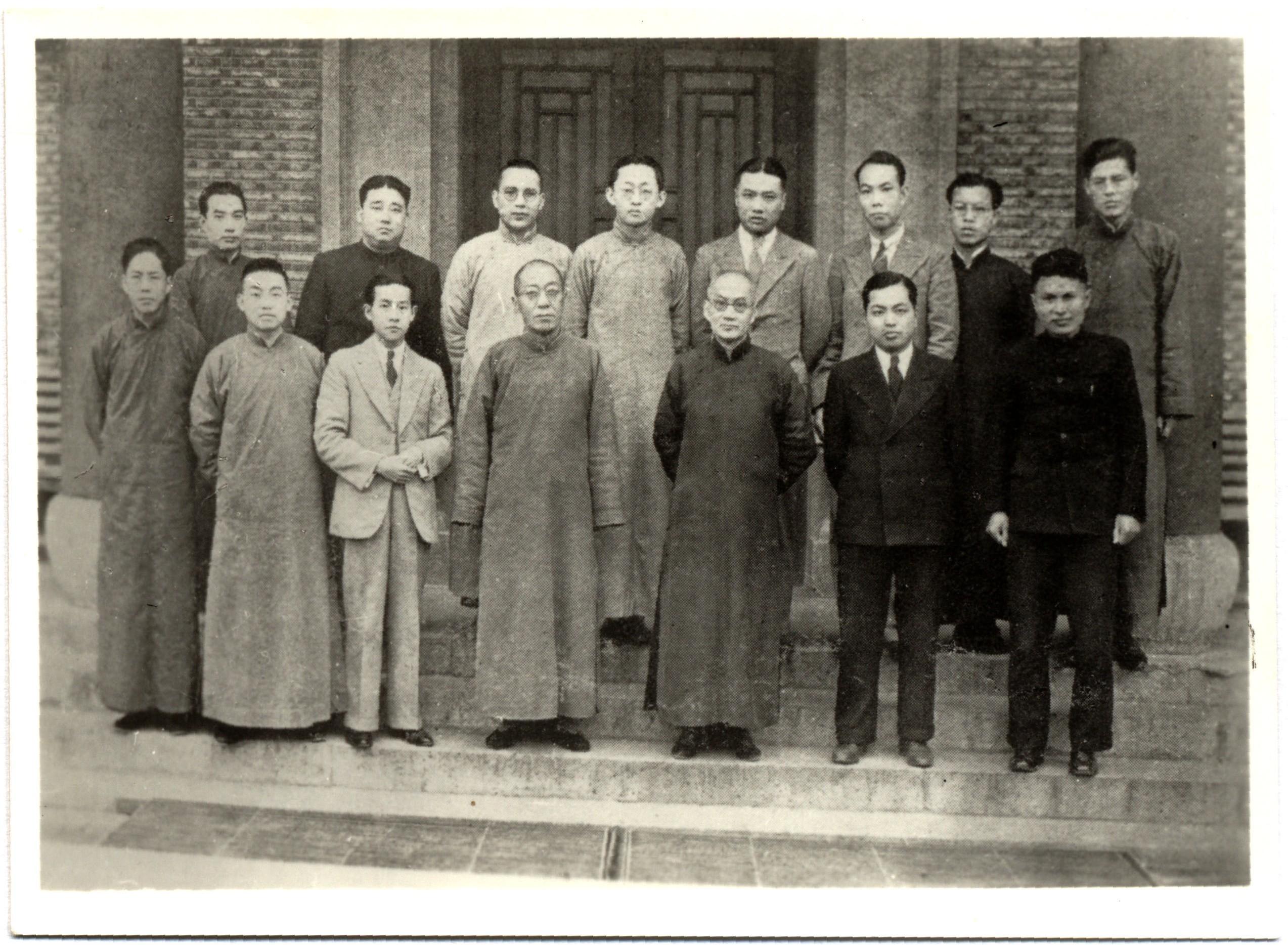 1936年,吕思勉与语文学会合影(左四吕思勉,左五张寿镛)