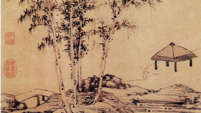 鉴赏 寒露里的书画名迹:枫落吴江,寒潭雁影