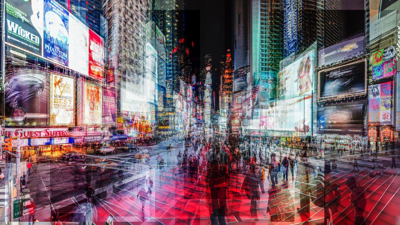 洛朗·德奎克镜头中的纽约时代广场 ©Laurent Dequick