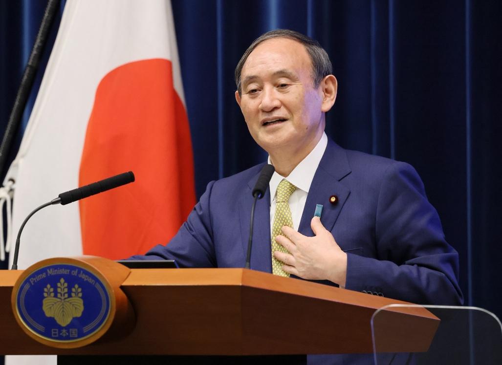 2021年9月28日,菅义伟最后一场记者会。