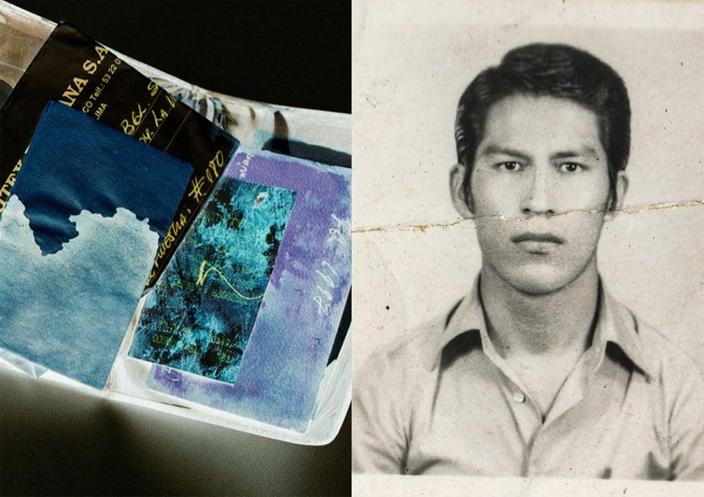 Paola的父亲被谋杀时随身携带着一些物品,钱包、钟、一些钢笔和梳子。母亲多年来一直保存着这些东西。图中是她父亲满是血的钱包,还有一张他年轻时的照片。