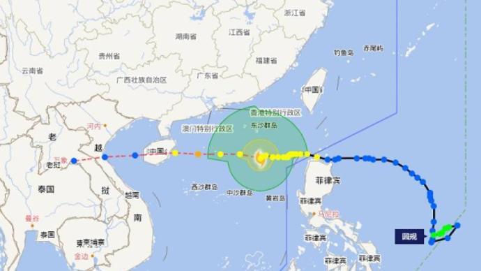 """""""圆规""""最早明日登陆,海南发布台风二级预警和暴雨三级预警"""