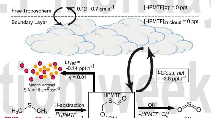 云的产生有赖于海洋生物,但已有的云会阻碍新云的形成