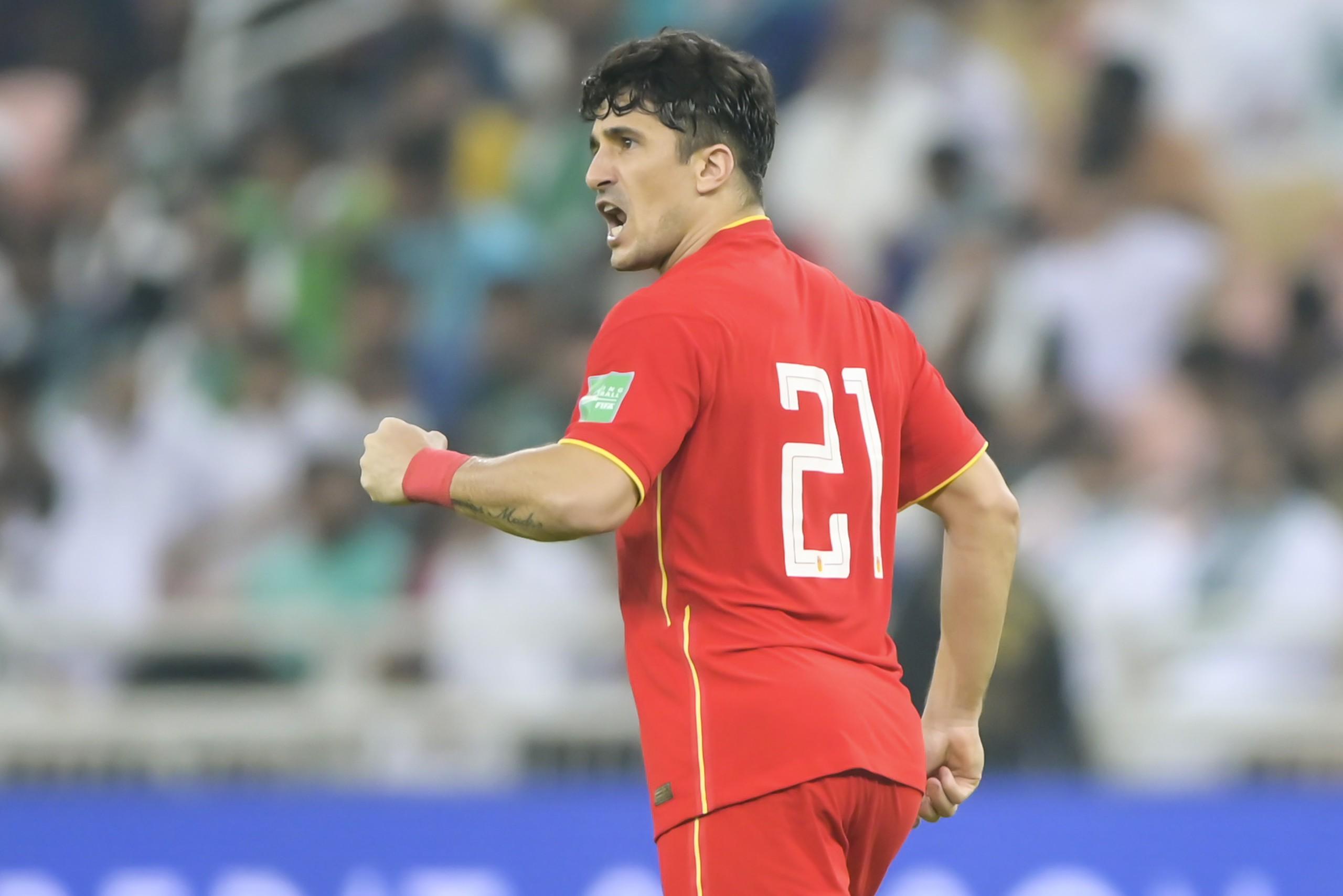 洛国富打入代表国足后的首球。