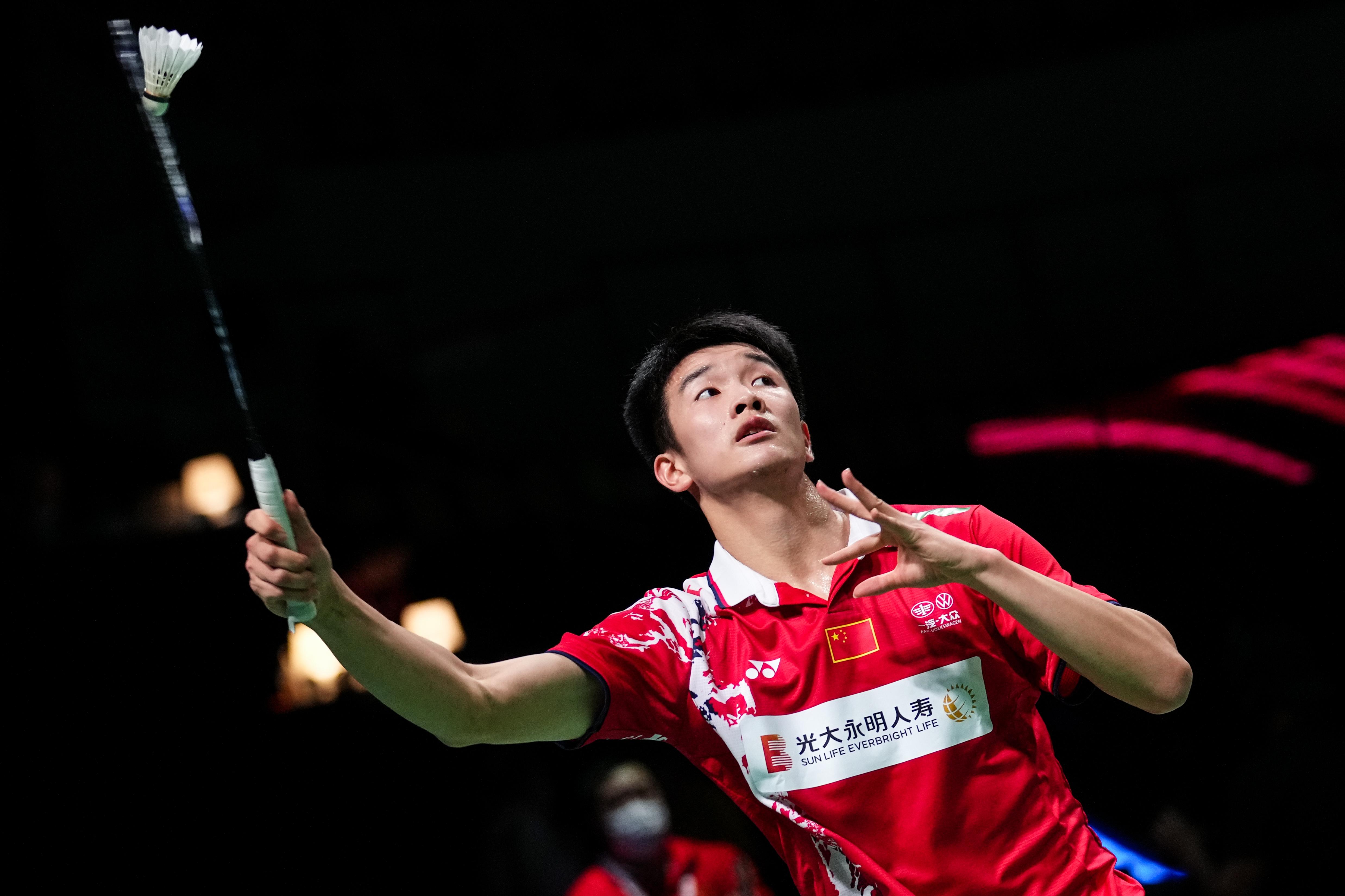 李诗沣在比赛中。