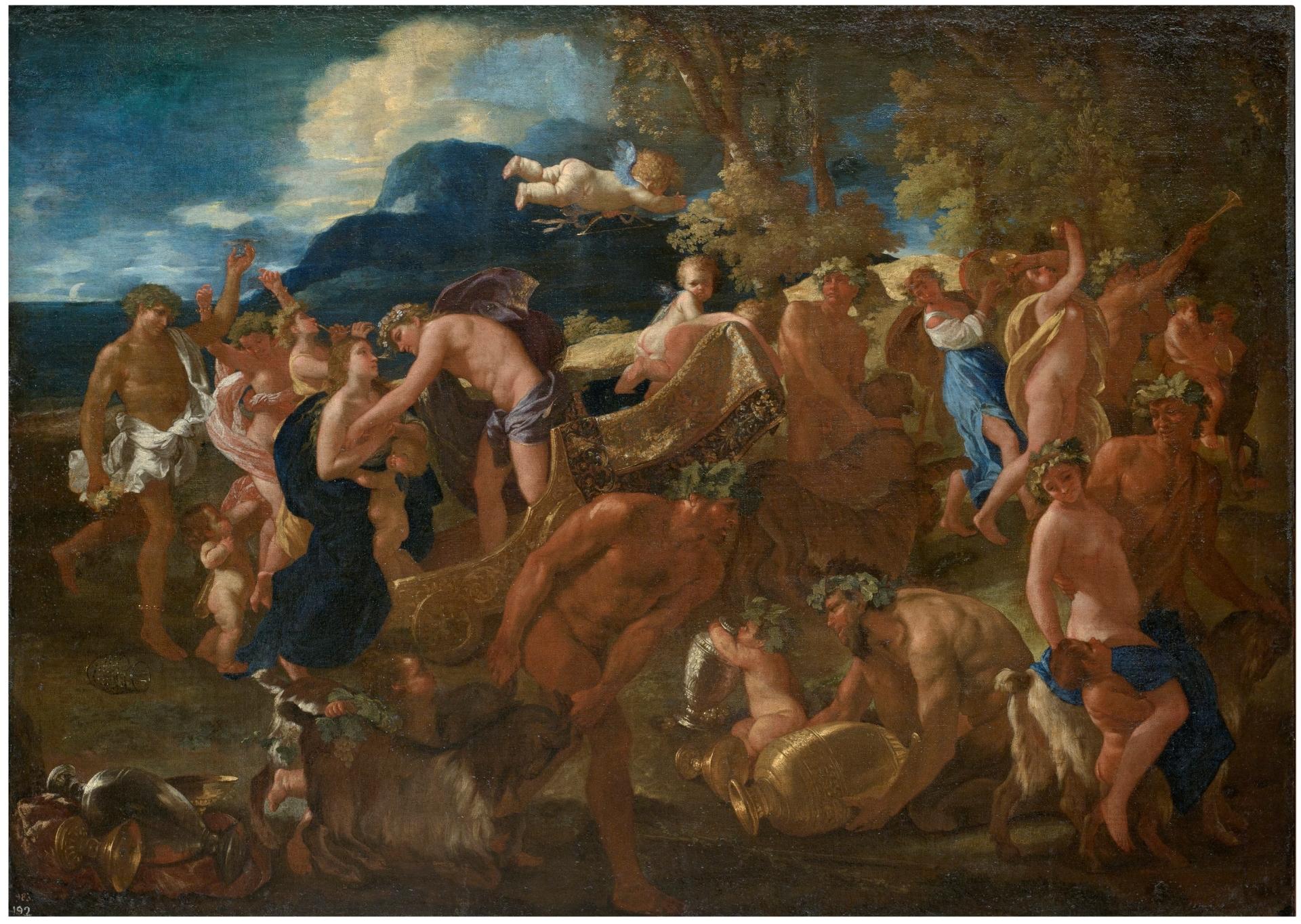 普桑,《酒神与阿里阿德涅》,1625-1626,西班牙普拉多博物馆藏