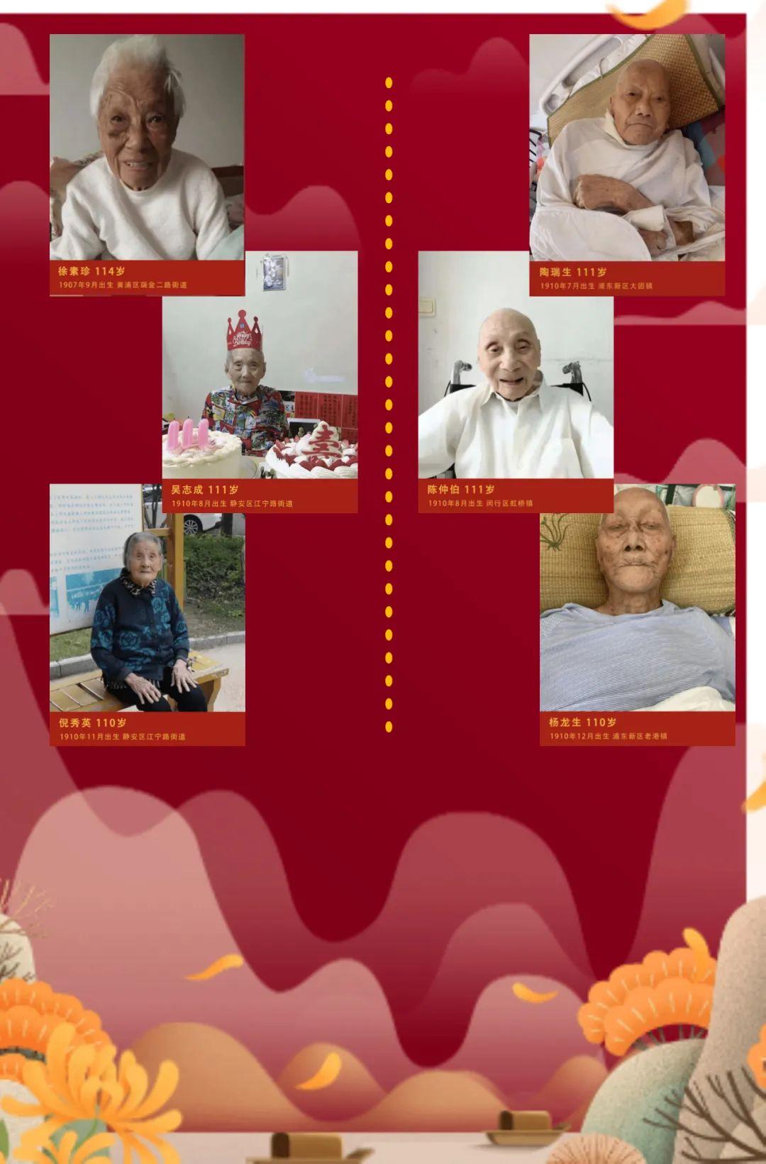 """上海百岁老人 """"上海民政""""微信公号图"""