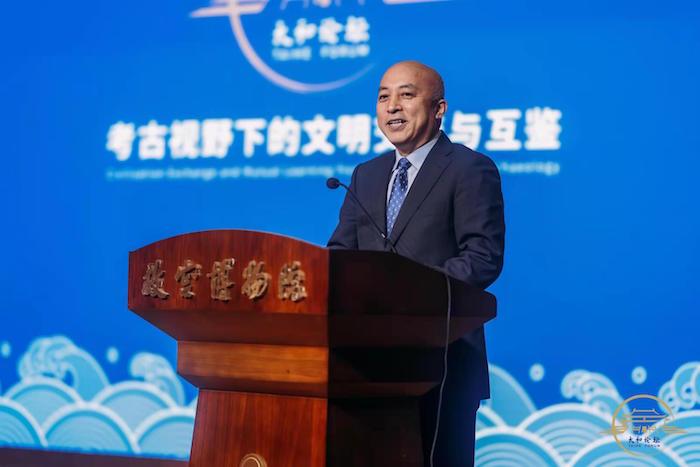 文化和旅游部党组成员、故宫博物院院长王旭东在开幕式上致辞