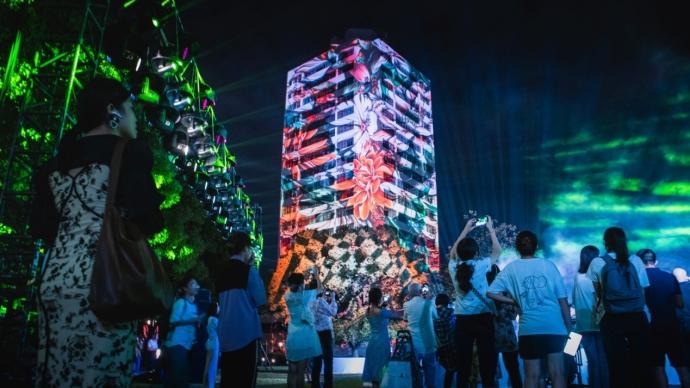 庆祝建校70周年,东华大学上演3D灯光情景秀点亮夜空