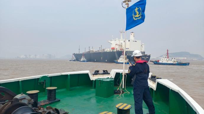 今年以来洋山港LNG供应量占上海全市用气比重近70%