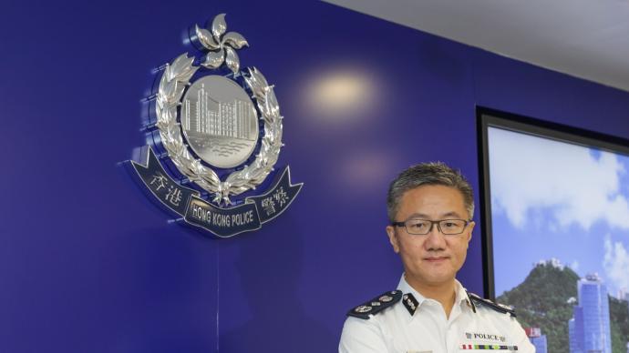 香港警队举行仪式悼念殉职警员,警务处处长萧泽颐致辞