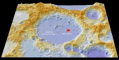 嫦娥四号着陆地点和抛射月幔物质的芬森坑。 本文图片 科技日报微信公多号