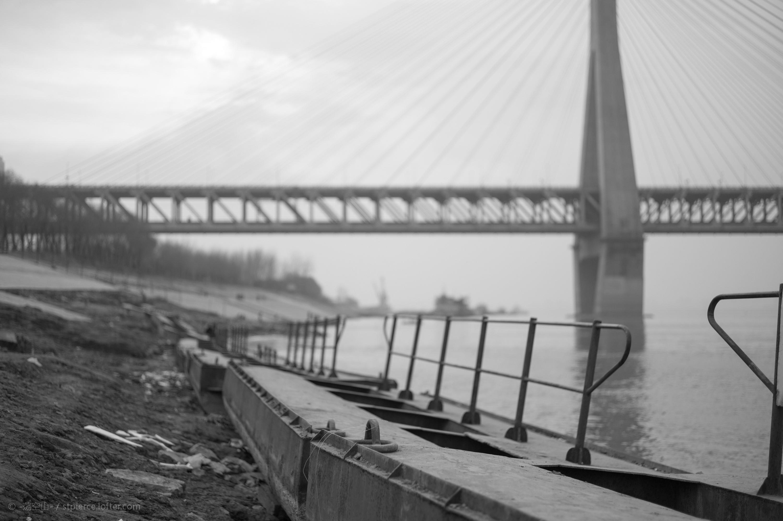 2016年,谌毅拍摄于天兴洲长江大桥青山桥头。