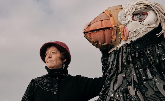 美國俄勒岡州海岸:26噸海洋垃圾創作了70個大型雕塑