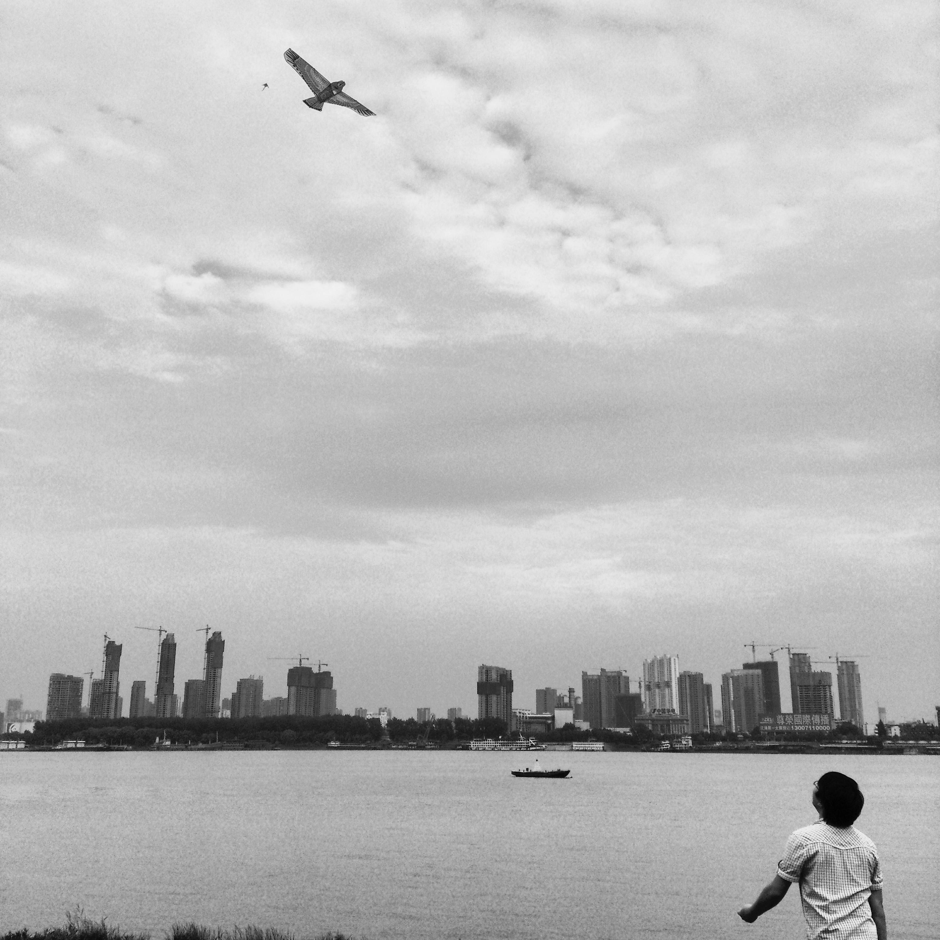 2013年,谌毅拍摄于汉口江滩。