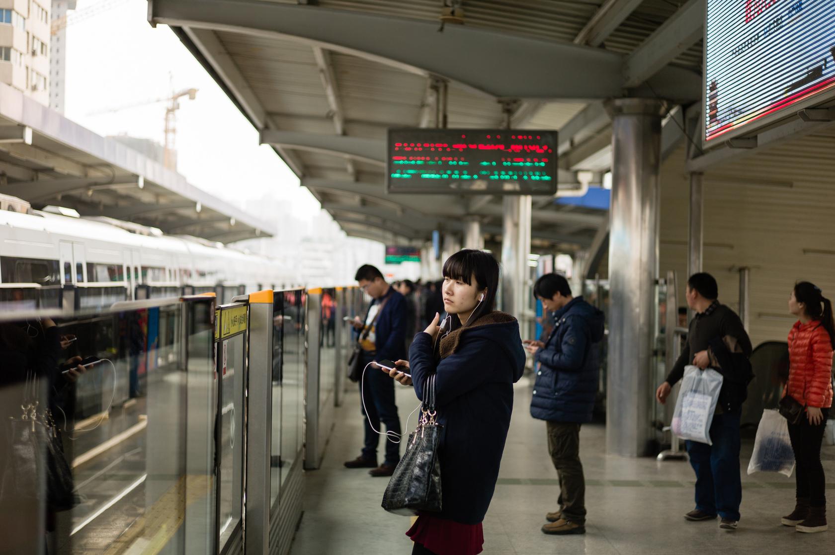 谌毅拍摄于轻轨汉口循礼门站。