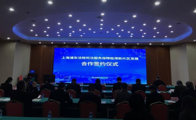 上海浦東法院司法服務保障臨港新片區,將建司法數據對接平臺