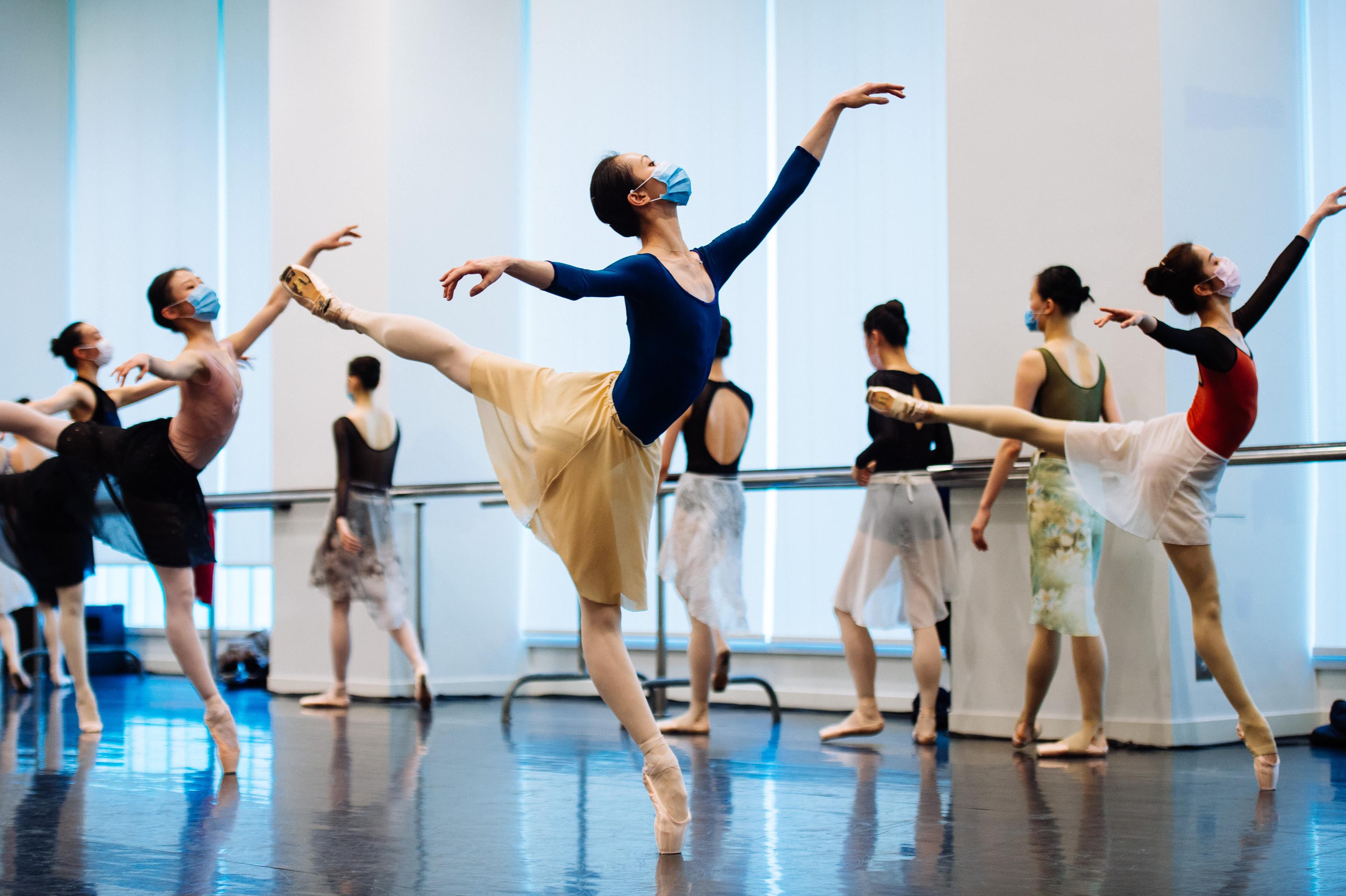 排练图。上海芭蕾舞团 供图