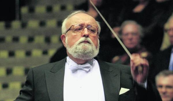 波兰著名作曲家、指挥家克日什托夫·潘德列茨基。