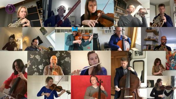 荷兰鹿特丹爱乐乐团云合奏《欢乐颂》