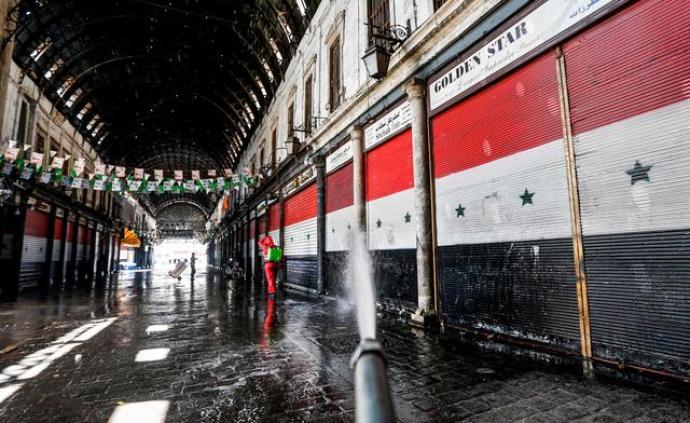 """叙利亚出现首例新冠肺炎死亡病例,大马士革街巷""""空无一人"""""""