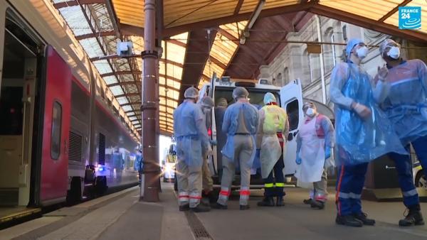 法国开医疗高铁转运新冠感染者