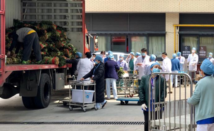 貴州送25噸新鮮蔬菜給上海醫護人員,表示敬意和慰問