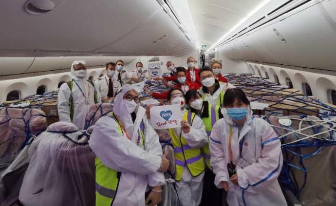 英国从中国运回3300万只口罩、300台呼吸机等防护物资