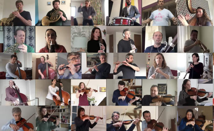 一次虚拟的聚会,51位法国演奏家云合奏《波莱罗舞曲》