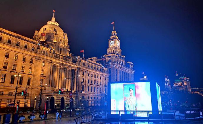 致敬最美守護者!上海主要地標、商圈、出租車統一亮屏亮燈