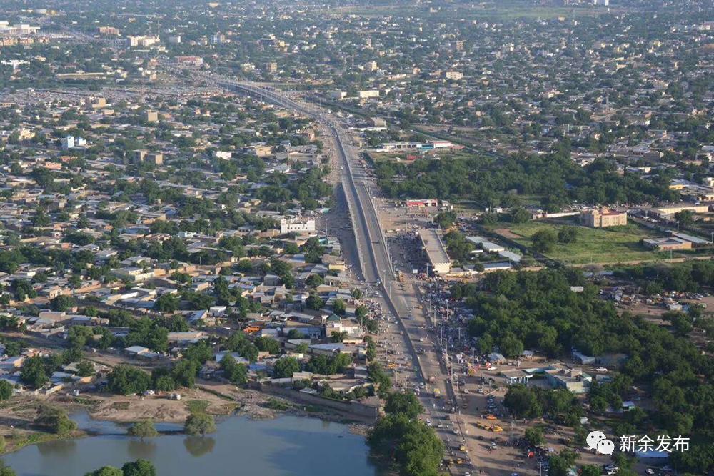 乍得首都恩贾梅纳俯瞰图。