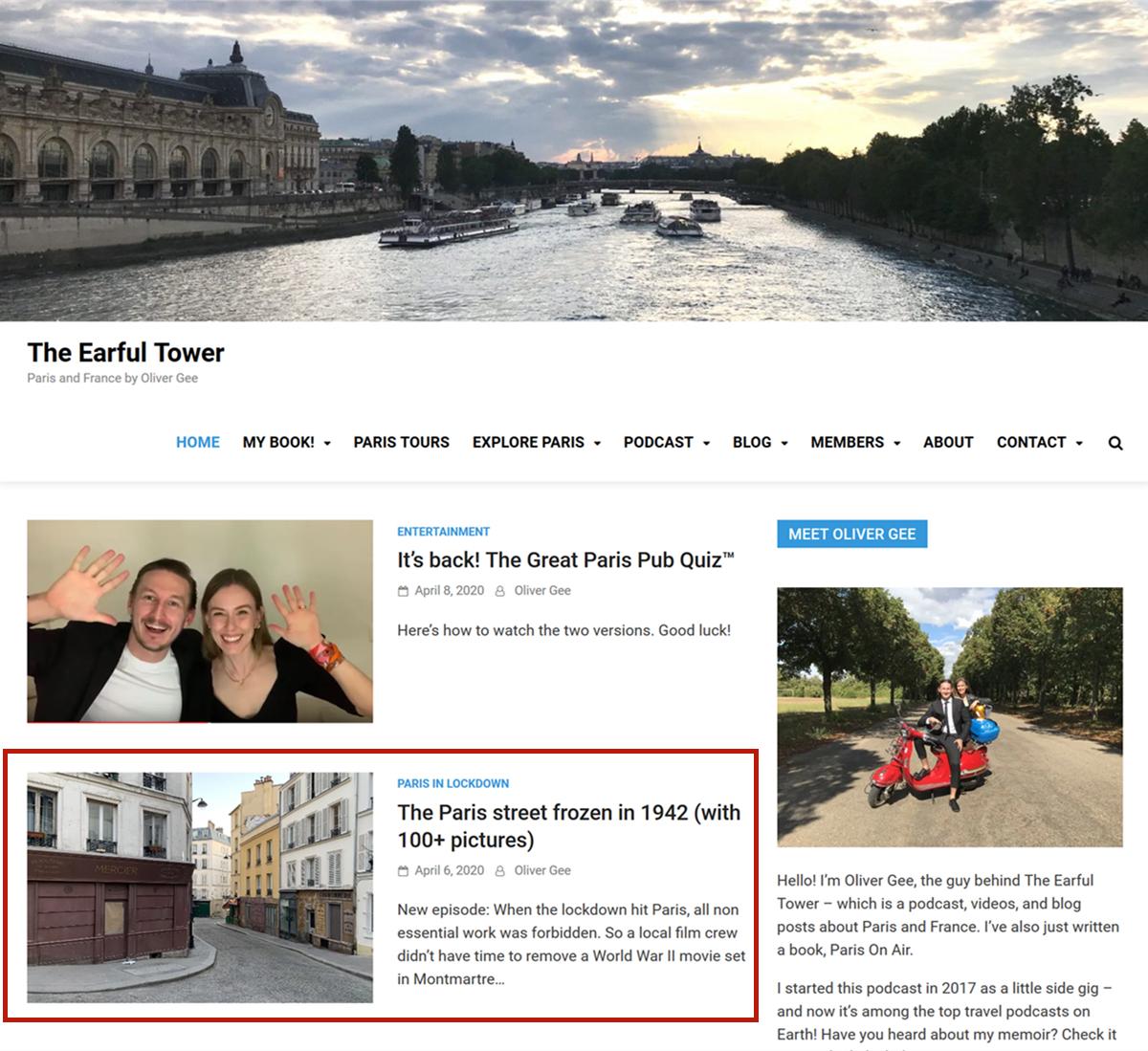 本文图片均为澳大利亚播客主奥利佛·吉的幼我网站The Earful Tower截图。红色片面为其贴出的图集。