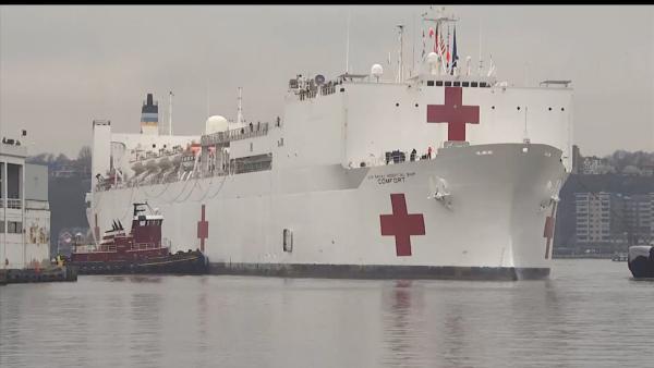 0407-美国医疗船一船员新冠检测呈阳,船上隔离中