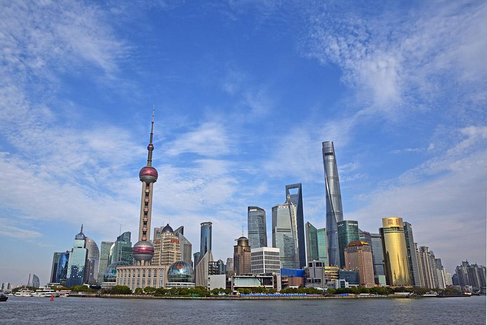 2020年4月5日下午,上海,眺望浦东。 IC photo 资料图