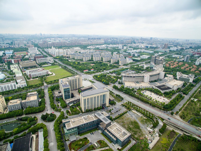 航拍上海张江高科技园区。第一财经日报-IC 资料图