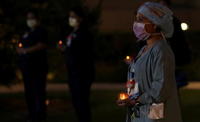 早安·世界|確診超82萬,美醫護人員燭光守夜要求更多口罩