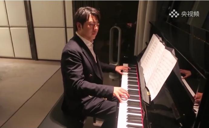 """郎朗王健呂思清等46位中國音樂家""""云合奏""""《紅旗頌》"""