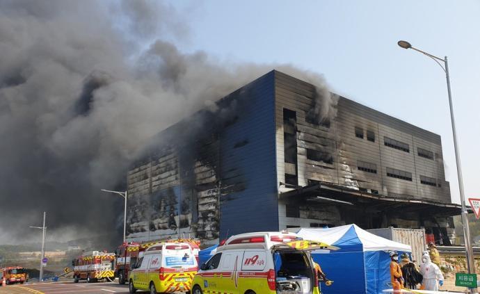 韓國京畿道倉庫工地起火,已致36人死亡