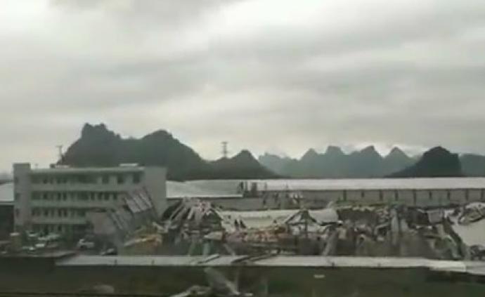 广西覃塘厂房倒塌:致29人伤,其中2人重伤经抢救无效死亡