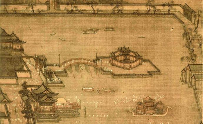 两宋宫苑:从张择端《金明池争标图》到马远《华灯侍宴图》