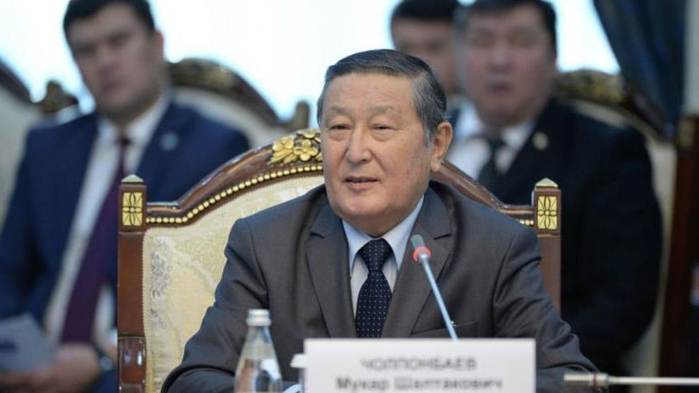 吉尔吉斯斯坦议会前议长穆卡尔·乔尔蓬巴耶夫