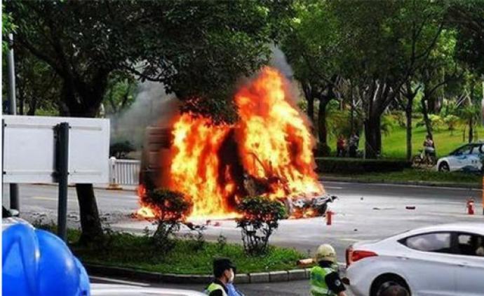 深圳電動貨車追尾起火導致司機死亡,南京依維柯正密切關注