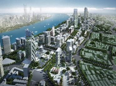 北外滩第二、三层面城市设计国际方案征集(从上至下分别为AS&P、COX、GENSLER方案)。