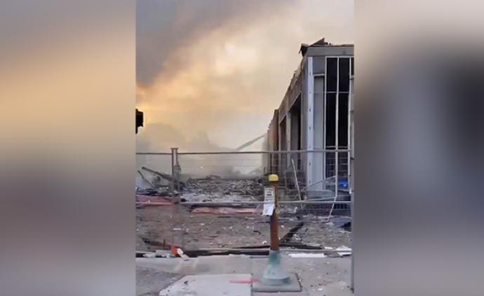 视频|美国明尼苏达州暴动后的清晨:多处商场及设施被毁